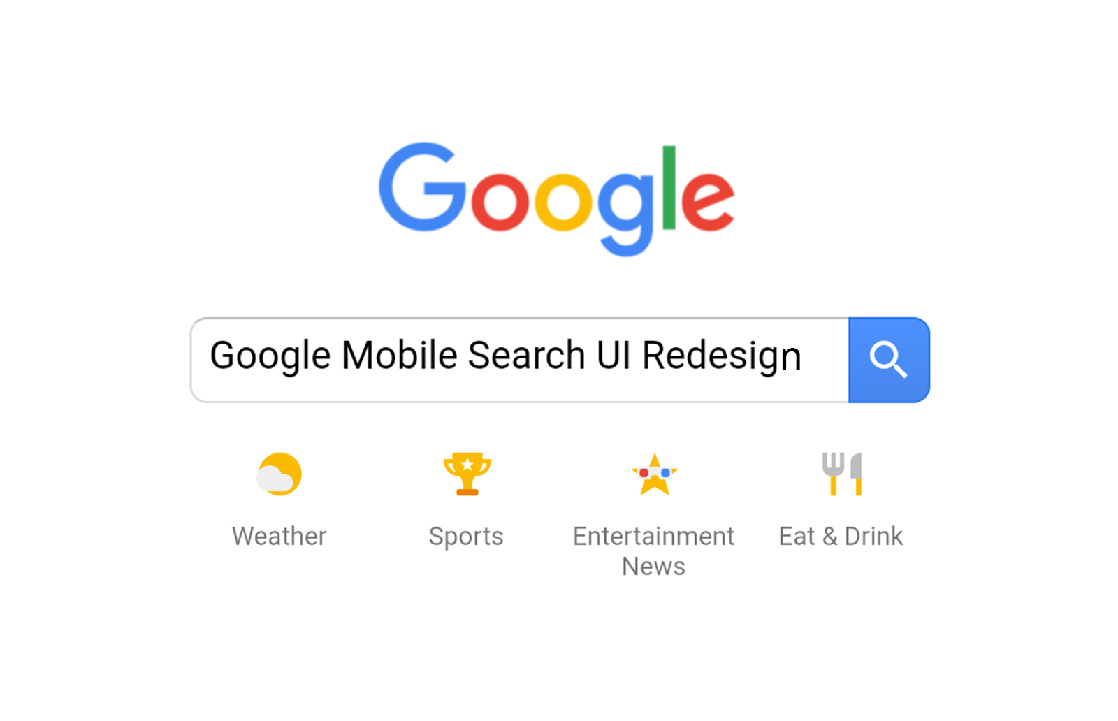 Google Mobile Search UI Redesign